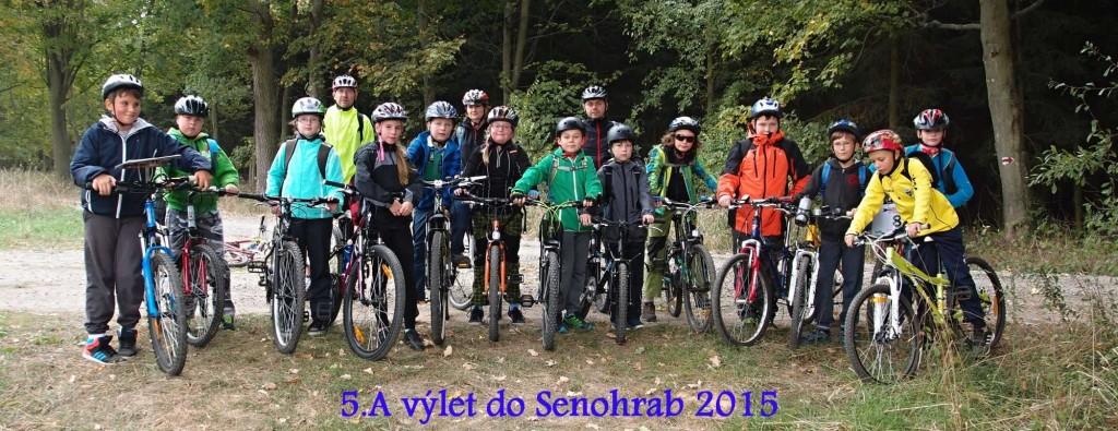 Cyklovýlet do Senohrab 5.A