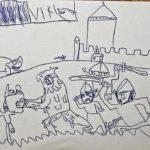 Jak vidí Hejkala a obléhatele Konopiště Viktor (6let)